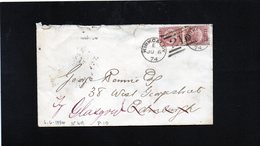 CG24 - Busta Kirkcaldy Per Glasgow 6/6/1874 - Storia Postale