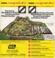 Catalogue ARNOLD RAPIDO 1965 Blatt Das Internationale Modellbahn-Programm - Allemand