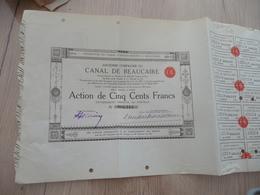 Action 500 F Compagnie Du Canal De Aigues Mortes à Beaucaire - Navigation