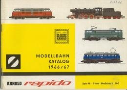 Catalogue ARNOLD RAPIDO 1966/67 60 Jahre Arnold Spur N 1:160 9 Mm - Allemand