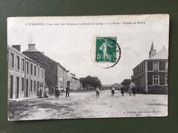 ETEIGNIERES (Pays Natal Des Généraux Lallement Et Lamy)-La Place-Ecoles Et Mairie - France