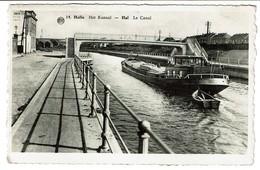 Halle - Het Kanaal / Hal - Le Canal - Péniche - Edit. J. Mertens-Baetens N° 14 - 2 Scans - Halle