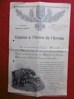 DIPLOME TROUPES DU LEVANT 11 GROUPE D'ARTILLERIE COLONIALE CITATION À L'ORDRE DE L ARMEE 1926 DRUZES - Documents