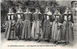 CPA DE GUERANDE  (LOIRE ATLANTIQUE)  LES PALUDIERES DE SAILLE EN COSTUME DE FÊTE - Guérande