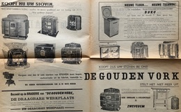 1945 - September - Braderie De Gouden Vork ZWEVEGEM - STOVEN - KACHELS - WOII - WO2 - Guido Gezellestraat - Publicités