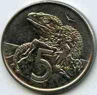 Nouvelle Zélande New Zealand 5 Cents 1981 KM 34.1 - Nuova Zelanda
