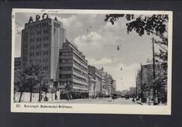 Romania PPC Bucuresti Bul. Bratianu 1938 To Czechoslovakia Censor - Rumänien