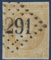 BORDEAUX 1870 N°43B (case 11) 10c Bistre Jaune Obl GC Superbe Et Tres Frais Signé Calves - 1870 Bordeaux Printing