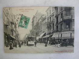 TRAMWAY - NANCY - Rue Saint Dizier - Point Central (très Animée) - Tramways