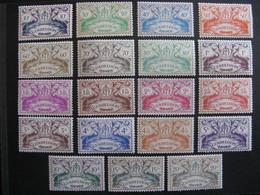 Guadeloupe: TB Série N° 178 Au N° 196, Neufs X. - Guadeloupe (1884-1947)