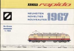 Catalogue ARNOLD RAPIDO Neuheiten 1967 N 9 Mm 1/160 + Preisliste DM - Allemand