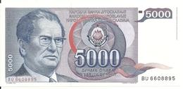 YOUGOSLAVIE 5000 DINARA 1985 UNC P 93 - Yougoslavie