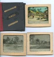LAOS - 9 TRANSPARENTS POUR LANTERNE MAGIQUE - Vieux Papiers