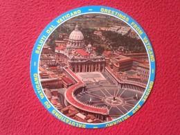 CARTE POSTALE BONITA CURIOSA POSTAL CIRCULAR POST CARD CITTÀ DEL VATICANO CIUDAD VISTA AÉREA GREETINGS FROM....ROMA ROME - Vatikanstadt
