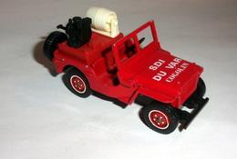 Voiture De Pompier Jeep Willys - Solido - Non Classificati