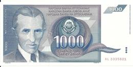 YOUGOSLAVIE 1000 DINARA 1991 UNC P 110 - Yougoslavie