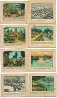 CAMBODGE - 8 TRANSPARENTS POUR LANTERNE MAGIQUE - Vieux Papiers