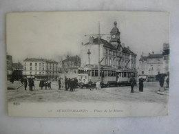 TRAMWAY - AUBERVILLIERS - Place De La Mairie (très Animée) - Tramways