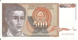YOUGOSLAVIE 500 DINARA 1991 UNC P 109 - Yougoslavie