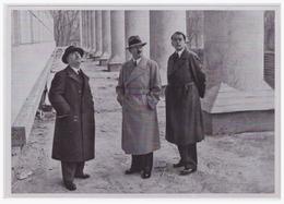 DT- Reich (000444) Propaganda Sammelbild Adolf Hitler Bild 116, Der Führer, Prof. Gall Und Architekt Speer - Lettres & Documents