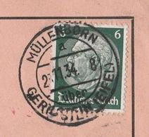 Deutsches Reich Karte Mit Tagesstempel Müllenborn über Gerolstein Eifel 1934 Lk Vulkaneifel Werbung Schweine - Deutschland