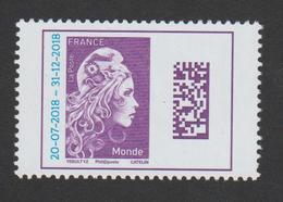 TIMBRE -  2018  -  N°  5271   -  Marianne D ' IZ  - Damatrix  Surchargée Violet ( Monde ) -   Neuf Sans Charnière - Neufs
