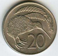 Nouvelle Zélande New Zealand 20 Cents 1974 KM 36.1 - Nouvelle-Zélande