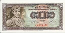 YOUGOSLAVIE 1000 DINARA 1963 UNC P 75 - Yougoslavie