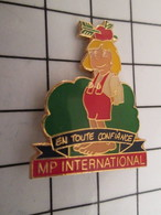 716b Pin's Pins / Beau Et Rare / THEME : MARQUES / MP INTERNATIONAL FLECHE POMME GUILLAUME TELL EN TOUTe CONFIANCE - Marques