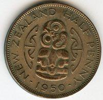 Nouvelle Zélande New Zealand Half 1/2 Penny 1950 KM 20 - Nuova Zelanda