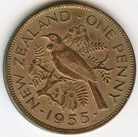 Nouvelle Zélande New Zealand 1 Penny 1955 KM 24.1 - Nuova Zelanda