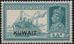 Kuwait 1939 6 Annas Steamer MH - Ship, King George VI - 2004.0403 - Ships