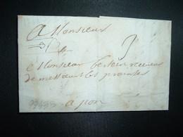 LETTRE (PLI) Datée Du 30 Septembre 1714 De SAINTES à PONS (17 CHARENTE MARITIME) MARESCHAL à Mr BERTEIN Receveur De Mess - Marcophilie (Lettres)