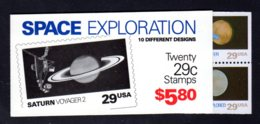 ETATS-UNIS 1991 - Carnet Yvert C 1983 - Scott #2577a - NEUF** MNH - Exploration De L'espace - 1981-...