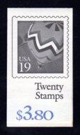 ETATS-UNIS 1991 - Carnet Yvert C 1941 - Scott #2530a - NEUF** MNH - Transports, Mongolfière - 1981-...