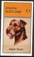 {ST070} Dogs Welsh Terrier S/S 1£ MNH** LABEL Cinderella !! - Fantasie Vignetten