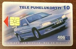 PEUGEOT 406 TÉLÉCARTE DE FINLANDE POUR COLLECTIONNEUR PHONECARD VOITURE AUTO - Automobile - F1