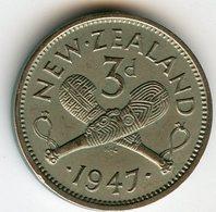 Nouvelle Zélande New Zealand 3 Pence 1947 KM 7a - Nuova Zelanda