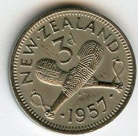 Nouvelle Zélande New Zealand 3 Pence 1957 KM 25.2 - Nuova Zelanda