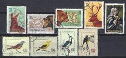 Roumanie, Lot 9 Valeurs Oblitérés, Themes : Chasse,oiseaux,écrivain - 1948-.... Republiken