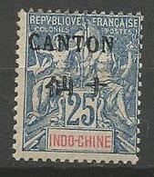 CANTON  N° 25 NEUF* CHARNIERE / MH - Canton (1901-1922)