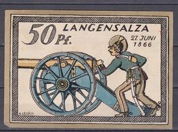 Notgeld - 50 Pfennig - Langensalza (f) - [11] Lokale Uitgaven