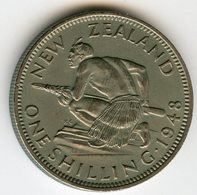 Nouvelle Zélande New Zealand 1 Shilling 1948 KM 17 - Nuova Zelanda
