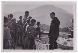 """DT- Reich (000516) Propaganda Sammelbild Adolf Hitler"""""""" Bild 168, Hitler- Jugend Als Gast Am Obersalzberg - Germany"""