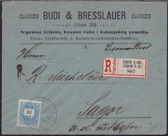Croatia, Registered Cover, Sent From Zagreb, 1894 - Kroatien