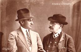 ALEXANDRU DAVILA Si ION LUCA CARAGIALE - CARTE VRAIE PHOTO / REAL PHOTO POSRCARD : EDITURA MAIER & STERN ~ 1905 (ae488) - Roumanie