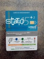 CARTE STATIONNEMENT  A PUCE CHIP CARD LE HAVRE STATIO  NEUVE NUMEROTEE - PIAF Parking Cards