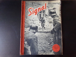 "Signal N° 5, Mars 1942, Revue De Propagande Allemande "" Le Premier Arrive ..."" - Books, Magazines, Comics"