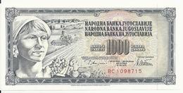 YOUGOSLAVIE 1000 DINARA 1978 UNC P 92 C - Yougoslavie
