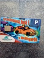 CARTE STATIONNEMENT  A PUCE CHIP CARD BELLEGARDE 01 NEUVE - PIAF Parking Cards